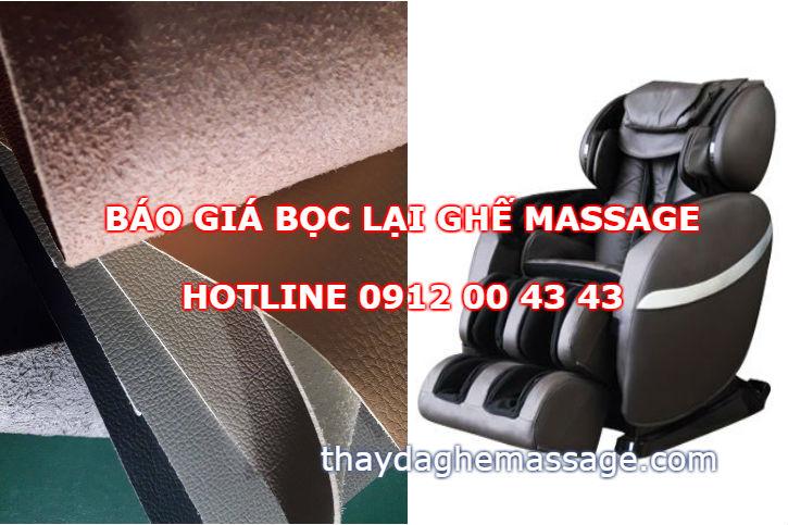 Giá bọc lại da ghế massage