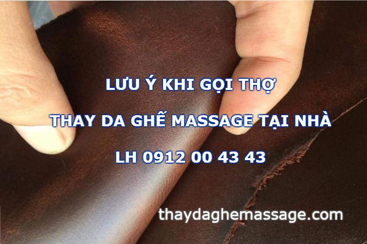 Lưu ý khi gọi thợ thay bọc da ghế massage tại nhà