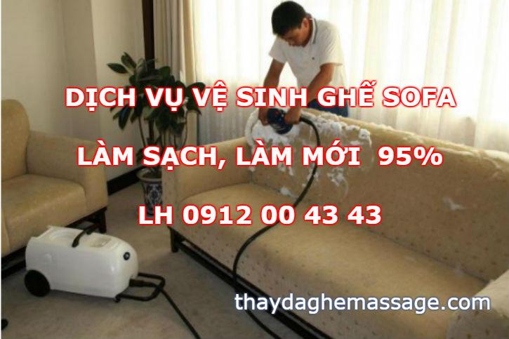 Dịch vụ làm sạch ghế sofa da