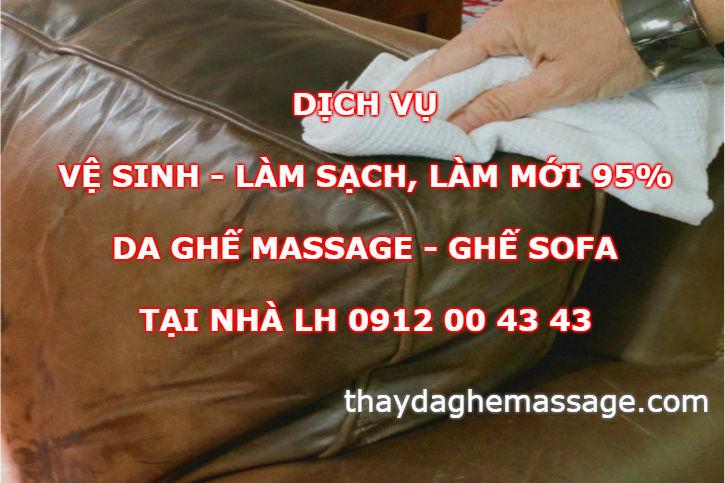 Dịch vụ vệ sinh da ghế massage