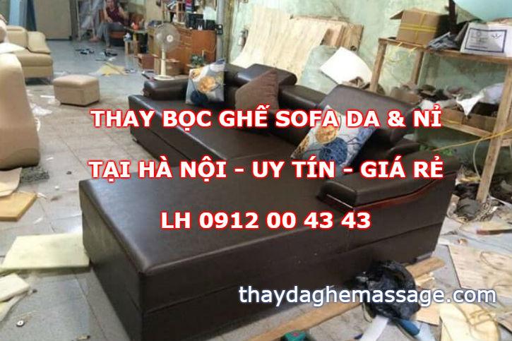 Xưởng thay bọc ghế sofa da tại Hà Nội