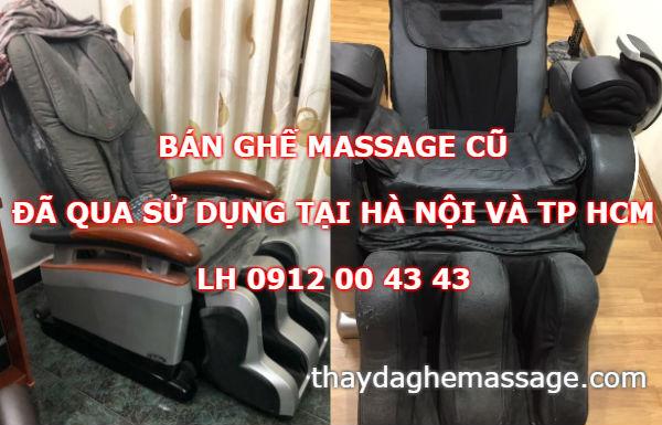 Bán ghế massage cũ đã qua sử dụng tại Hà Nội và TP HCM