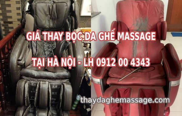 Giá bọc da ghế massage tại Hà Nội