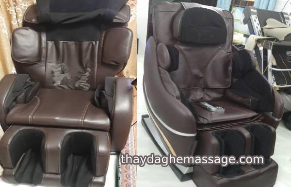 Thắc mắc thay da ghế massage xong túi khí không bóp căng