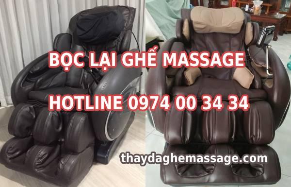 Bọc lại ghế massage giá bằng 1/4 ghế massage mua mới