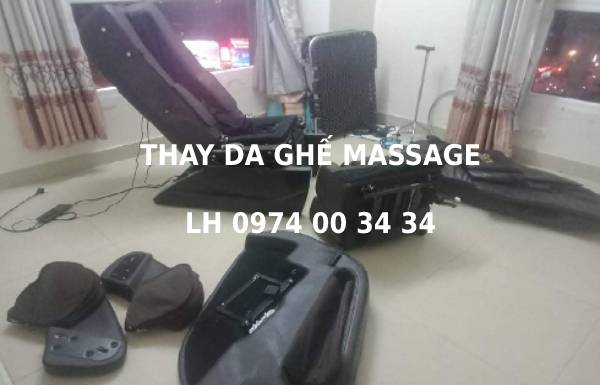 Chế giá bọc lại ghế massage đắt bỏ không thay mua ghế mới