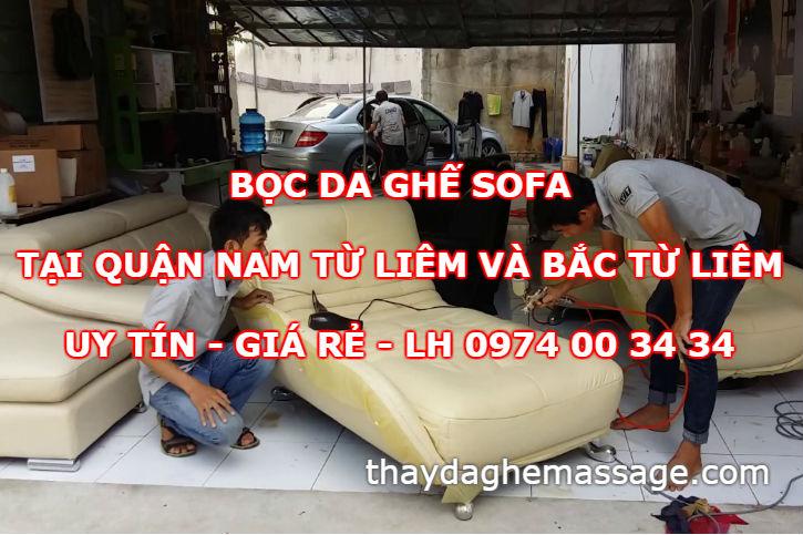 Bọc da ghế sofa tại Nam Tư Liêm và Bắc Từ Liêm