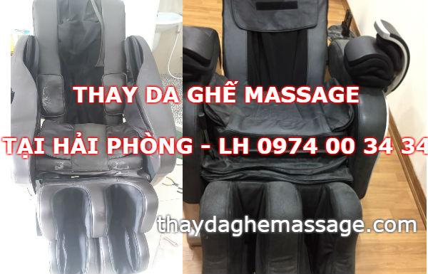 Thay da ghế massage tại Hải Phòng