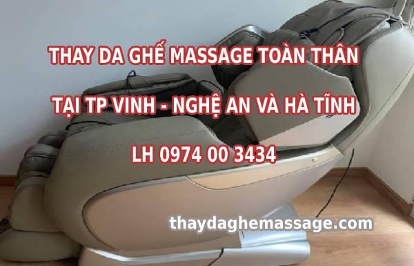 Thay da ghế massage tại TP Vinh Nghệ An