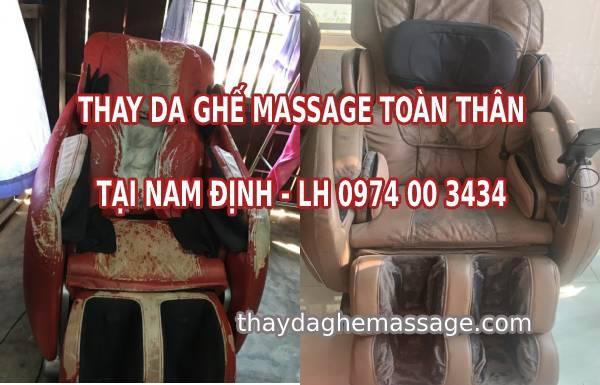 Thay bọc da ghế massage tại Nam Định