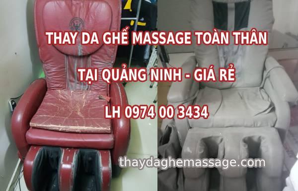 Thay bọc da ghế massage tại Quảng Ninh
