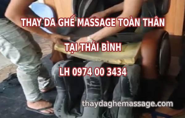 Thay bọc da ghế massage tại Thái Bình