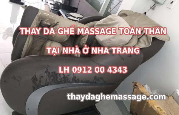 Thay bọc da ghế massage toàn thân tại Nha Trang