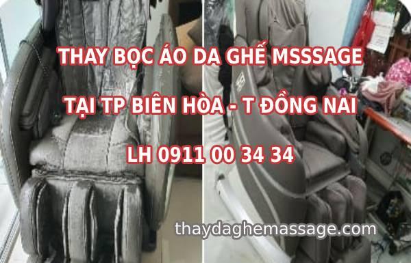 Thay bọc áo da ghế massage tại TP Biên Hòa