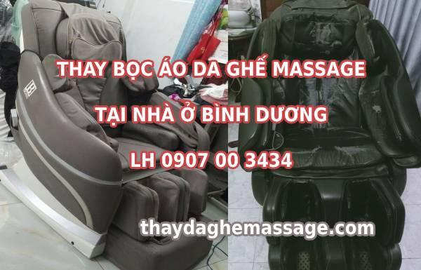 Bọc áo da ghế massage tại Bình Dương