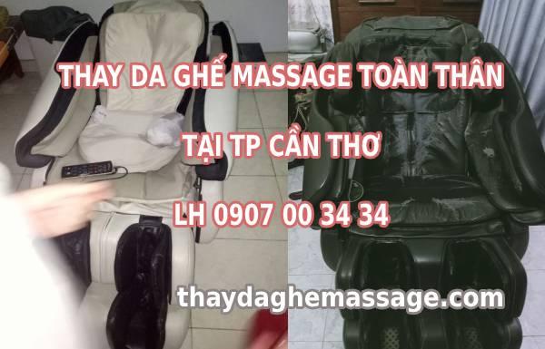 Thay bọc áo da ghế massage tại TP Cần Thơ