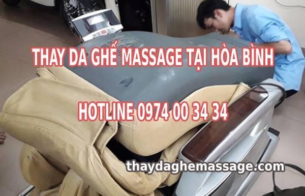 Thay da ghế massage tại Hòa Bình